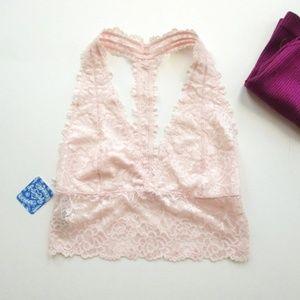 Free People Longline Lace Tback Bralette Size  M